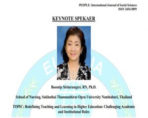 รศ.ดร.บุญทิพย์ สิริธรังศรี ได้รับเชิญเป็น Keynote speaker ในการประชุม ICRTEL 2018 – International Conference on Research in Teaching, Education & Learning